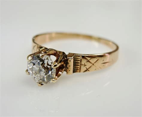 antique solitaire rings wedding promise