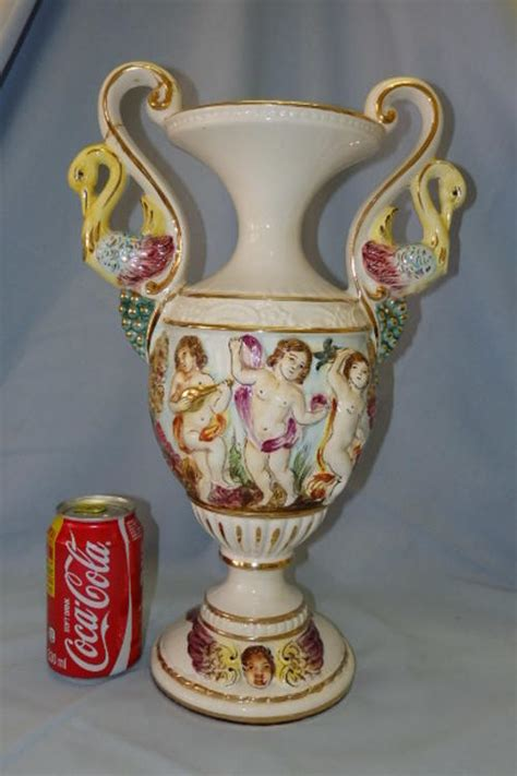Capodimonte Urn Vase by A Superb Vintage Original Italian Sted Capodimonte