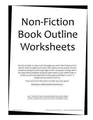 Novel Outline Template Chapter By Chapter Pdf Fill Online Printable Fillable Blank Pdffiller Nonfiction Book Template