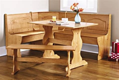 Corner Booth Dining Set Table Kitchen Kitchen Nook Corner Dining Breakfast Set Table Bench Chair Booth Solid Wood New