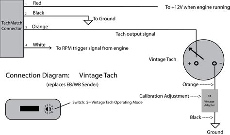 tachometer wiring diagram a diagram for wiring tachometer vintage 2wire wiring diagram tachometer wire diagram for