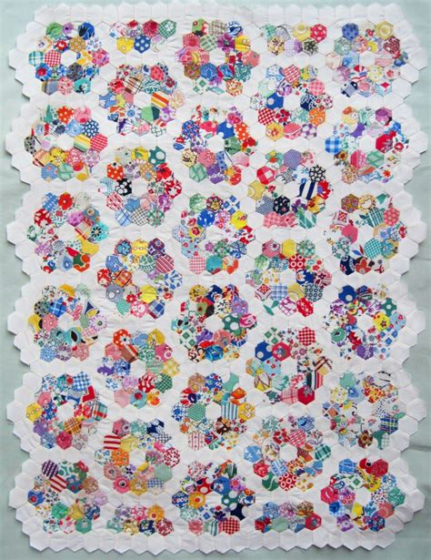 Grandmother S Flower Garden Doll Quilt Top Q Is For Quilter Grandmother S Flower Garden