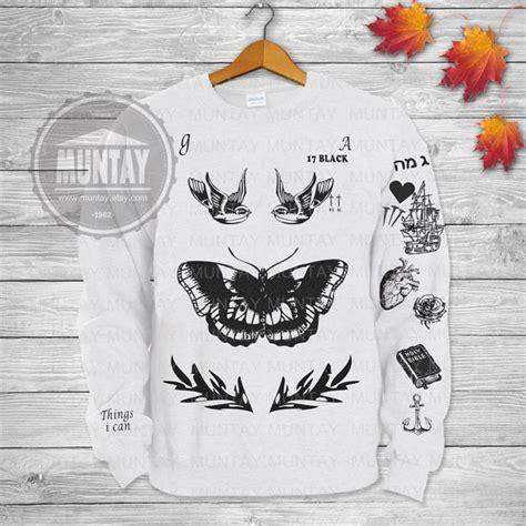 harry styles tattoo sweater amazon harry styles tattoos one direction 1d crewneck sweatshirt