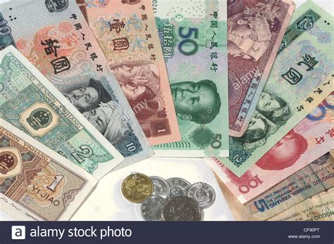 currency cny money notes coins colorful yuan cny renminbi rmb