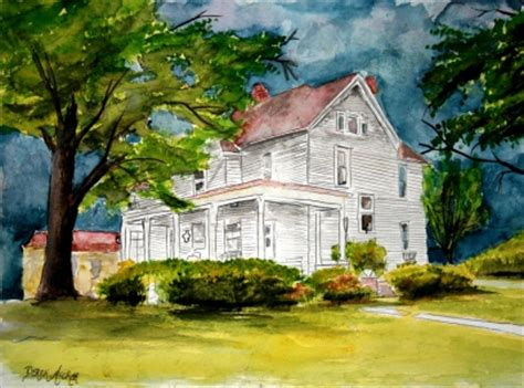 painting of houses watercolor house paintings and drawings