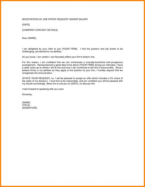 salary negotiation email template salary negotiation email sle new representation exle