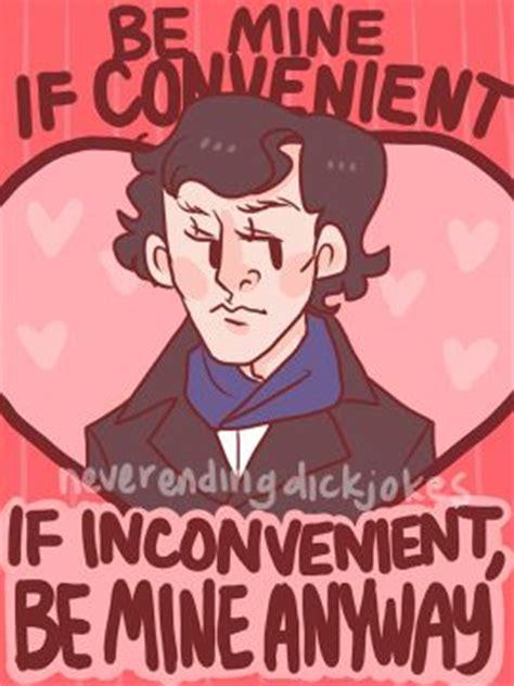 sherlock valentines day card cards