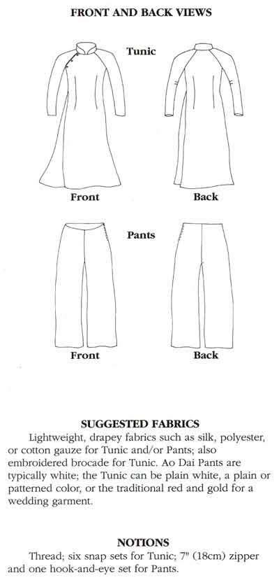 sewing pattern ao dai folkwear 139 vietnamese ao dai gt folkwear patterns