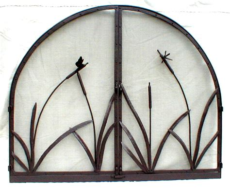 Dragonfly Fireplace Screen by Fireplace Screen