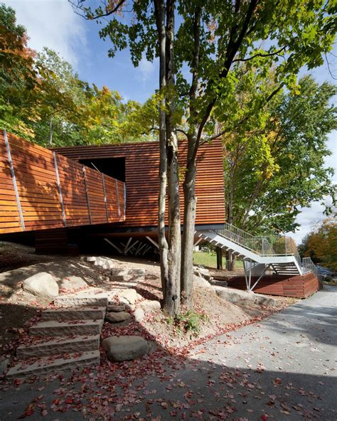 Pavillon Modern by Spa Balnea S Reception Building In Canada Gently Adapted