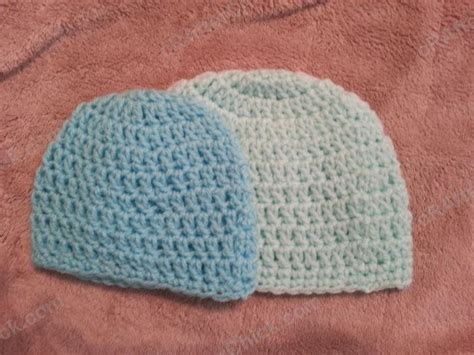 pattern crochet newborn beanie easy peasy baby infant sized newborn 3 months double
