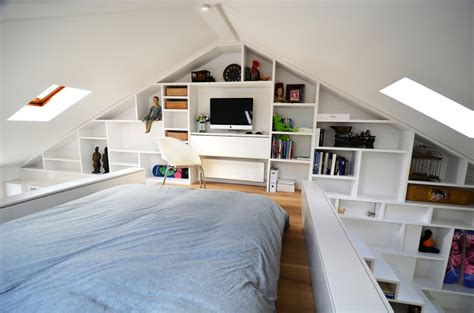 attic area beautiful loft design a solution to space shortage