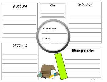 mystery book report template mystery book report template by zeva s zest teachers pay