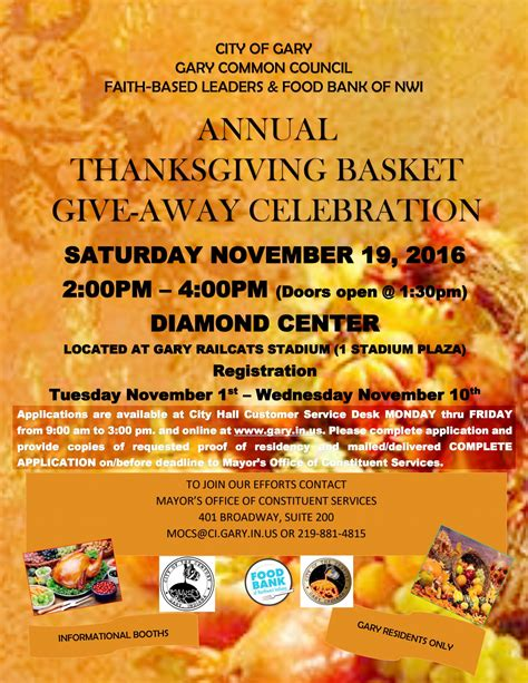 Thanksgiving Sweepstakes - city of gary annual thanksgiving basket giveaway celebration gary chicago crusader