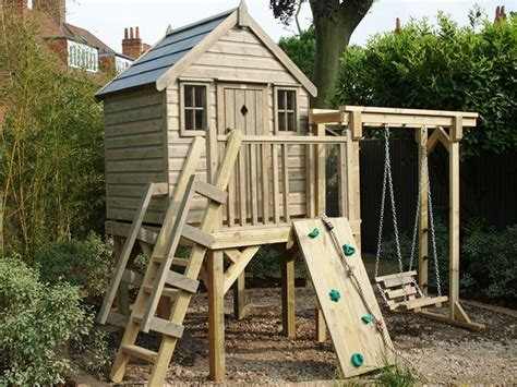 treehouse swing childrens wooden treehouse with swing treehouses the