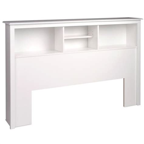 full queen bookcase headboard in white wsh 6643