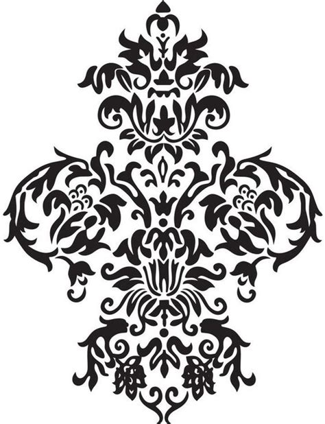 baroque designs large damask vinyl wall decal art baroque by