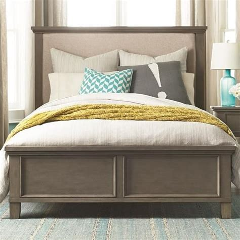 bassett upholstered beds bassett brentwood 2794 k158 queen upholstered bed with