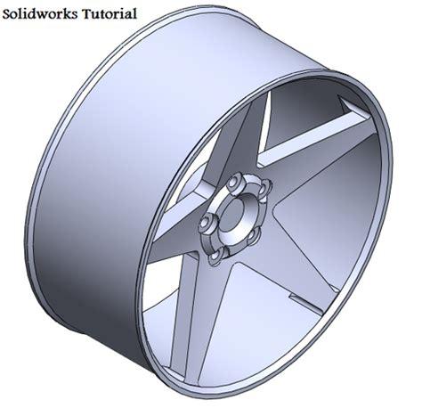 solidworks tutorial rim solidworks 17 quot rim tutorial other 3d cad model grabcad