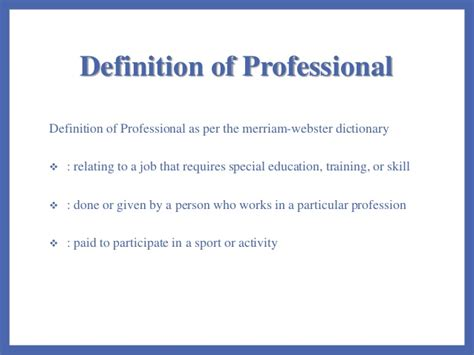 professional definition of professional by websters teachers as professionals