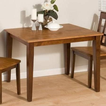 rubberwood kitchen table jofran kura solid rubberwood rectangle 42x30 dining table for the home