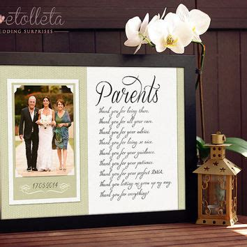 Wedding Gift To Parents by Best Gifts For Parents Of The And Groom Products On