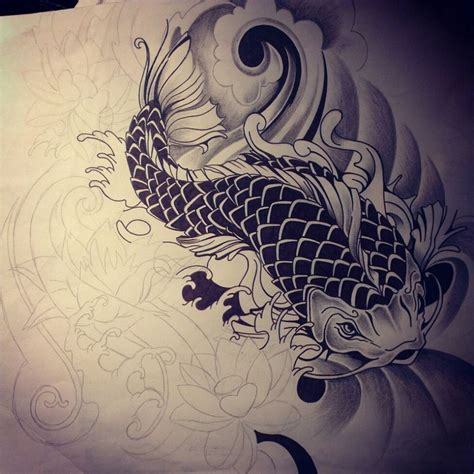 dragon koi tattoo images designs