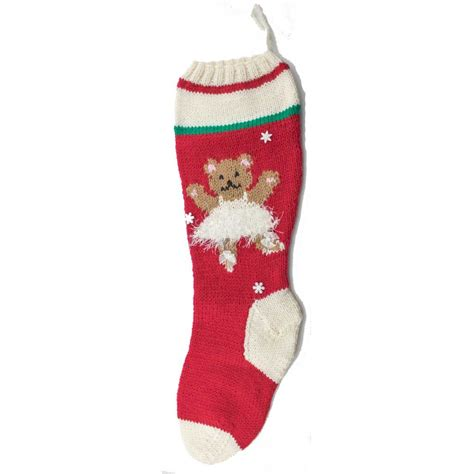 christmas sock ballerina bear christmas stocking kit red 7003 r