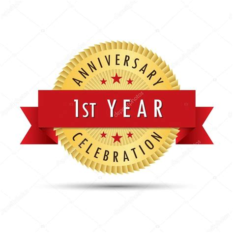 first year anniversary celebration icon logo stock vector 114903574