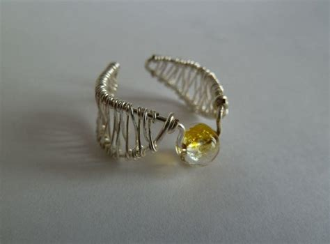 How To Make Jewelry Out Of Wire - golden snitch wire ring allfreejewelrymaking com