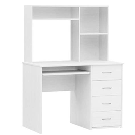 white study desk large white computer study desk auction graysonline