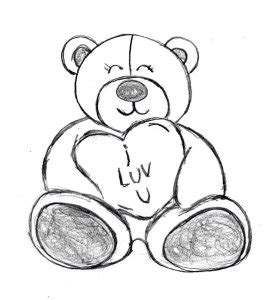 valentines teddy drawing valentine s day 2015 ideas drawingmanuals children