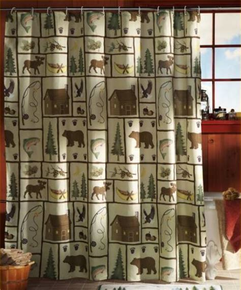 lodge shower curtain cabin shower curtains 28 images shower curtains