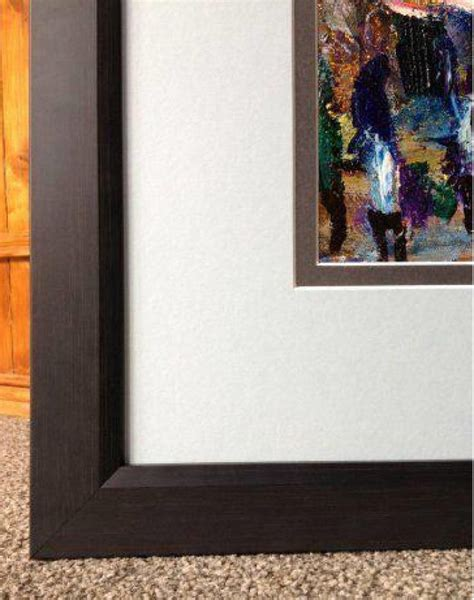 framed abstract abstract original acrylic painting framed with mount