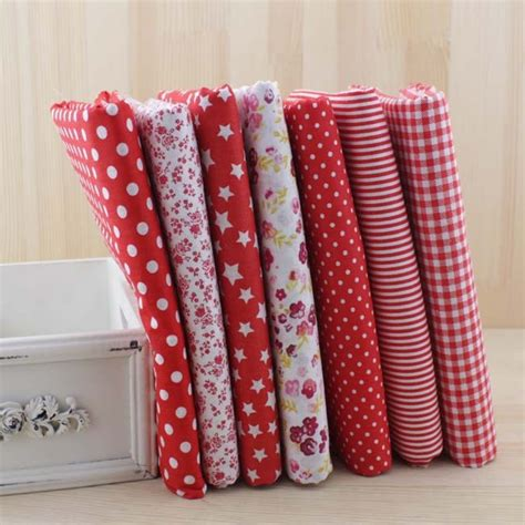 7pcs cotton patchwork fabric bundle for diy sewing