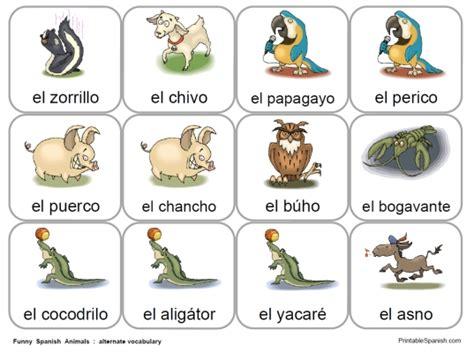 printable animal flashcards in spanish funny animal cards printable spanish