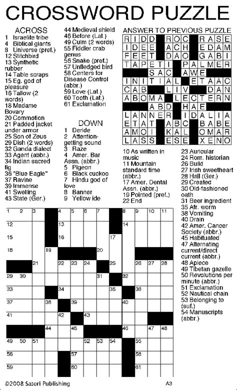 usa today crossword printable version sandoval signpost puzzles
