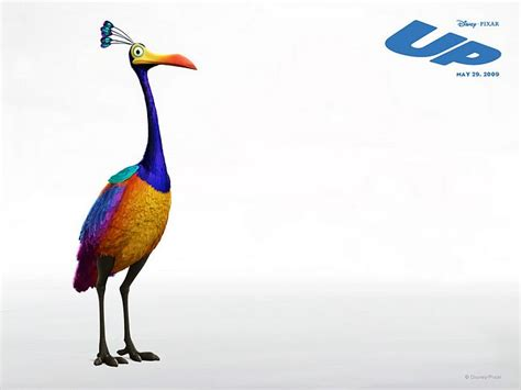 up colourful goofy bird 2 wallcoo net