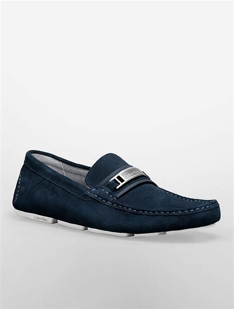 calvin klien loafers navy suede driving shoes calvin klein mario suede driving