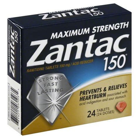 Ranitidine 150mg Per zantac 150 ranitidine maximum strength 150 mg tablets 24 tablets rite aid