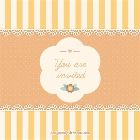 Cute invitation card Vector   Free Download