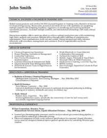 Resume Template Engineering Student Chemical Engineer Resume Sle Template