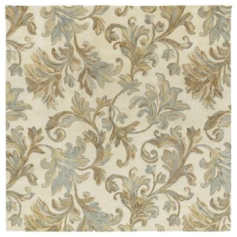 square area rugs 8x8 kaleen calais floral waterfall ivory 8 ft x 8 ft square area rug 7507 01 8x8 the home depot