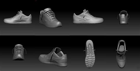 Sport Shoes Model 3017 3d model of reebok sports shoe