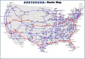 Greyhound Route Map greyhound bus usa route map travel pinterest