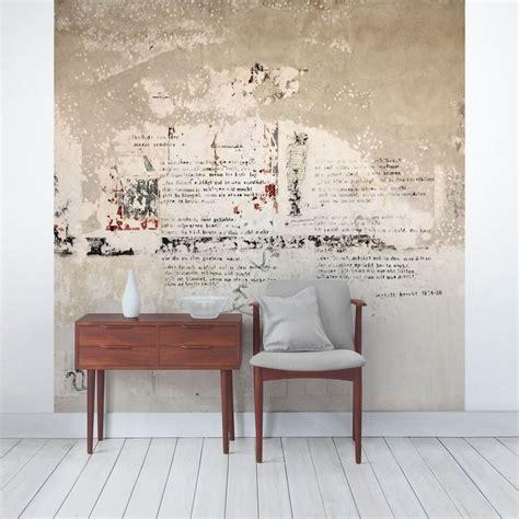 bilderwelten beton vliestapete quadrat alte betonwand mit