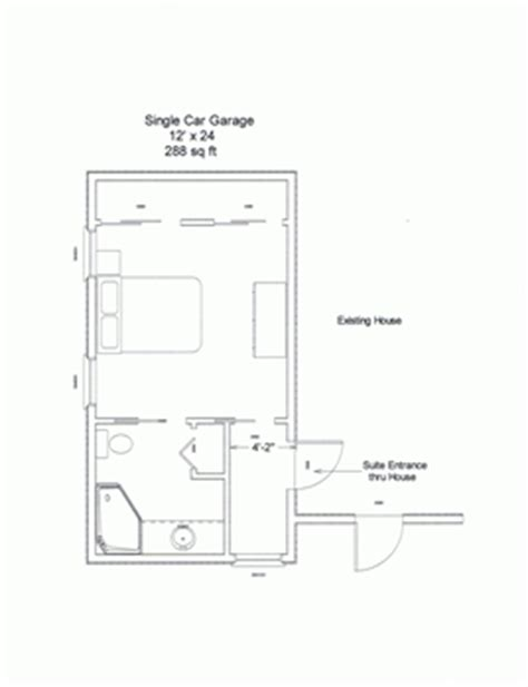 Single Car Garage Dimensions by The In Law Suite