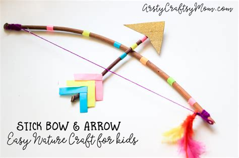 How To Make A Bow And Arrow Paper - stick bow and arrow craft for artsy craftsy