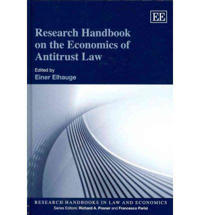handbook on the economics of the books research handbook on the economics of antitrust