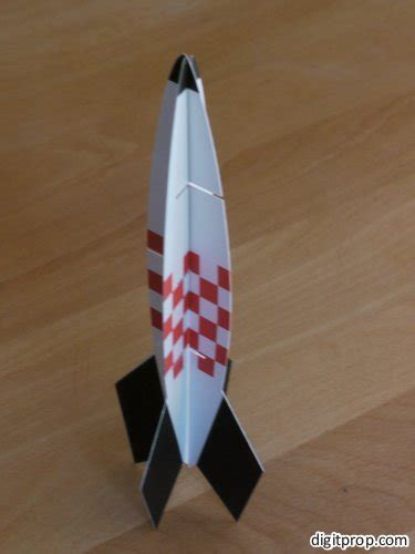 Paper Rocket - take to the paper rocket digitprop paper design